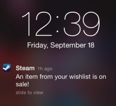 Steam mobile notification