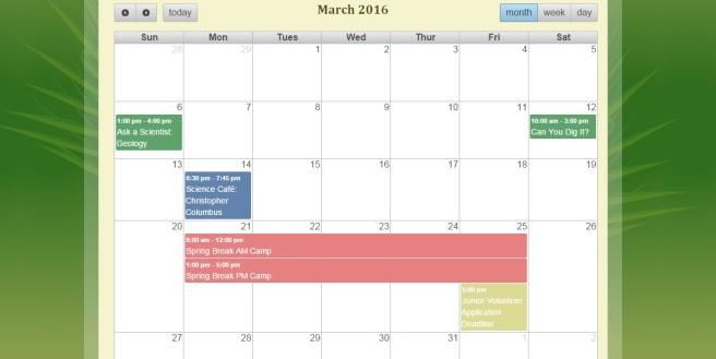 FLMNH calendar